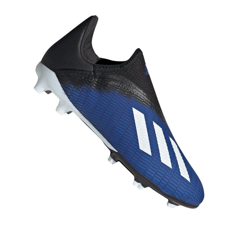 adidas X 19.3 LL FG J Kids Blau Schwarz - blau
