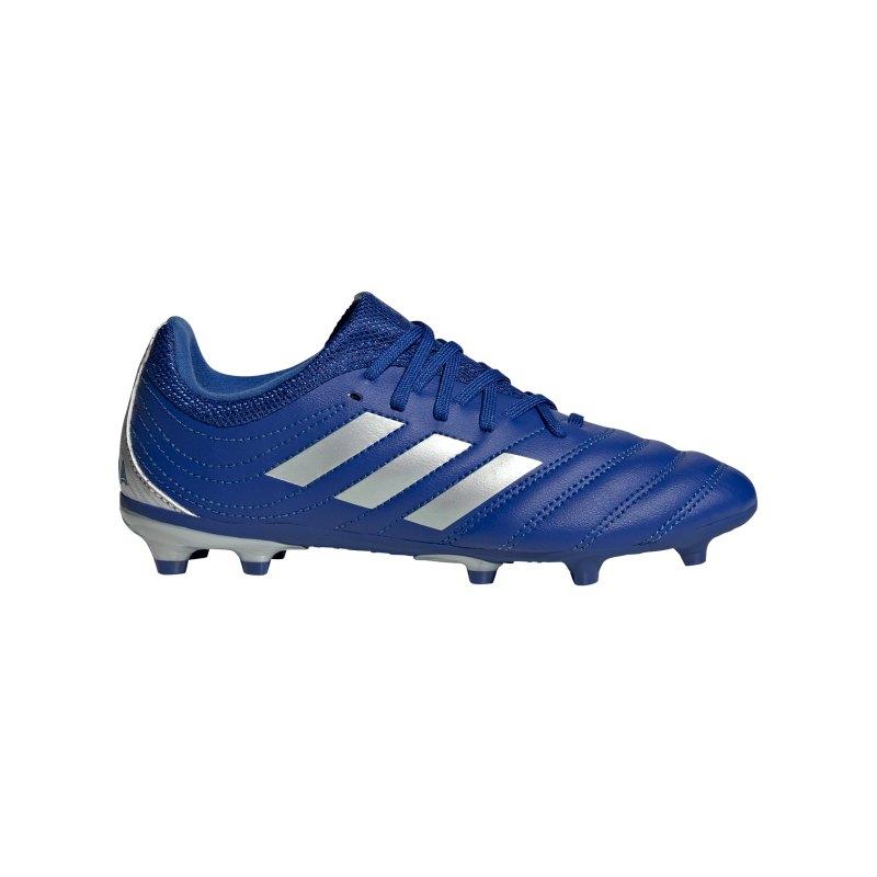 adidas COPA Inflight 20.3 FG J Kids Blau Silber - blau