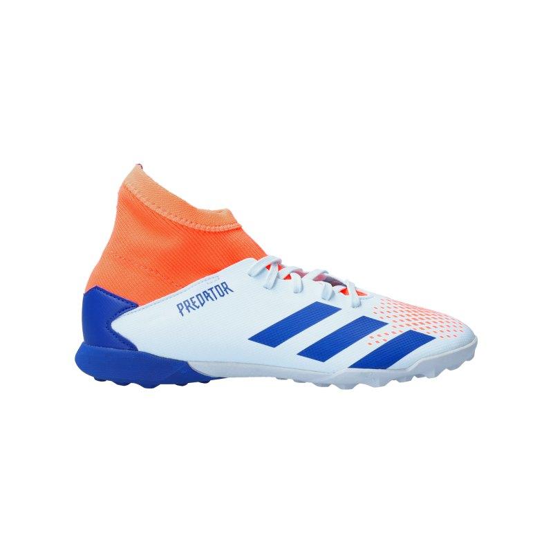 adidas Predator Glory Hunter 20.3 TF J Kids Blau Orange - blau