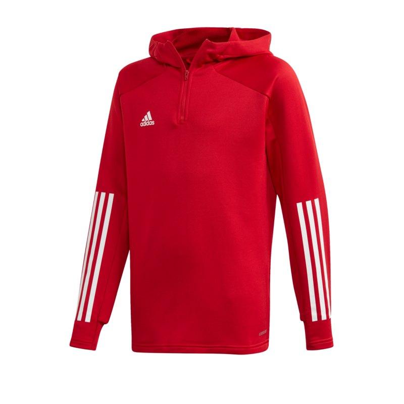 adidas Condivo 20 Kapuzensweatshirt Kids Rot Weiss - rot