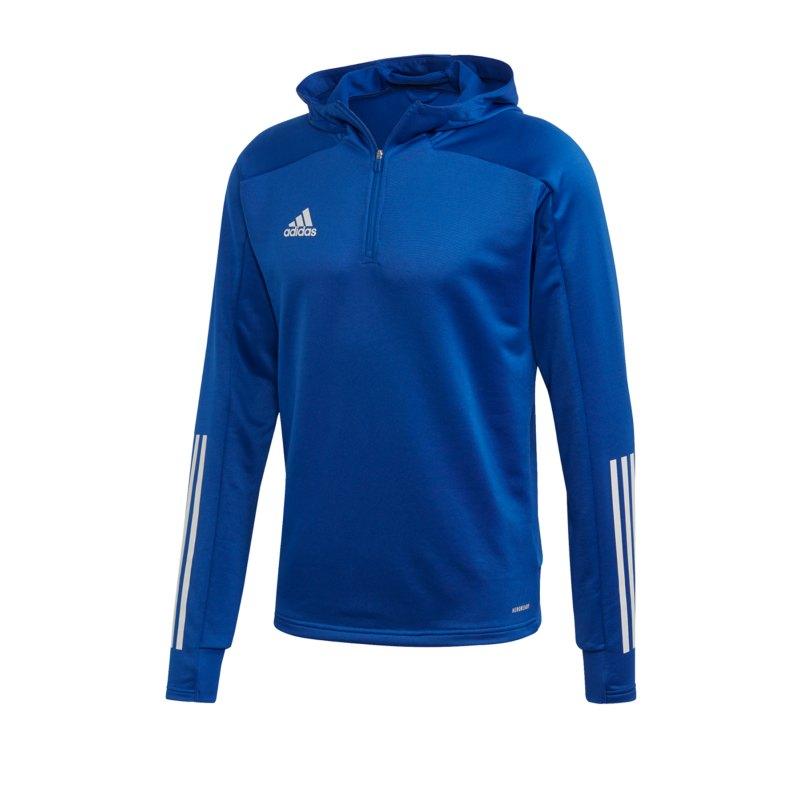 adidas Condivo 20 TK Kapuzensweatshirt Blau Weiss - blau