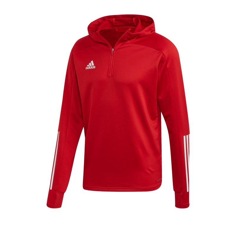 adidas Condivo 20 Kapuzensweatshirt Rot Weiss - rot