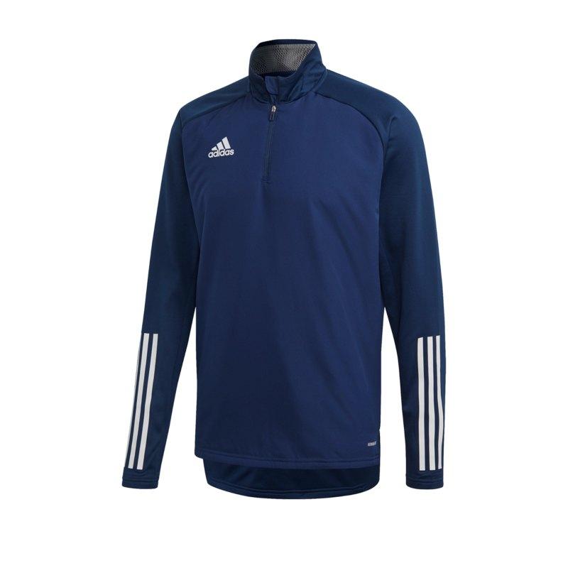 adidas Condivo 20 Warm Sweatshirt Blau Weiss - blau