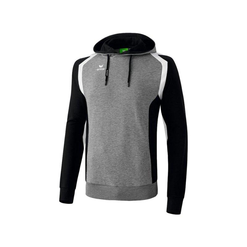 Erima Kapuzensweatshirt Razor 2.0 Grau Schwarz - grau