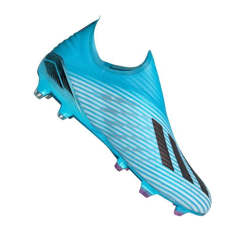 adidas X 19+ FG Blau Weiss Schwarz - blau