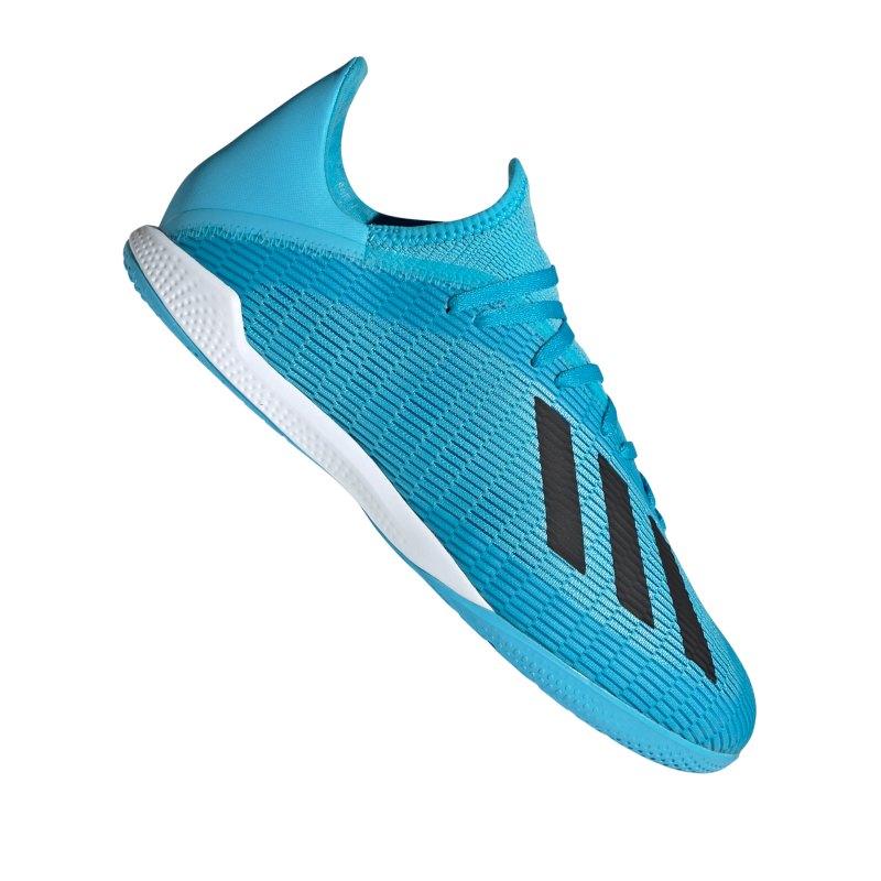 adidas X 19.3 IN Halle Blau Weiss Schwarz - blau