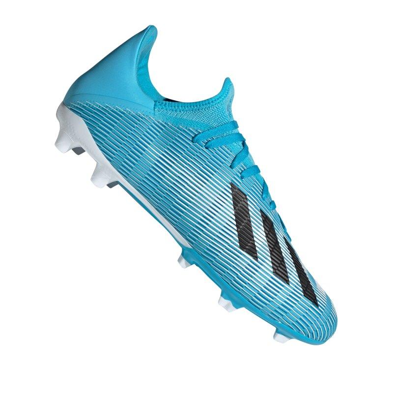 adidas X 19.3 FG Blau Weiss Schwarz - blau