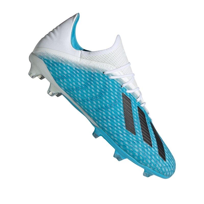 adidas X 19.2 FG Blau Weiss Schwarz - blau