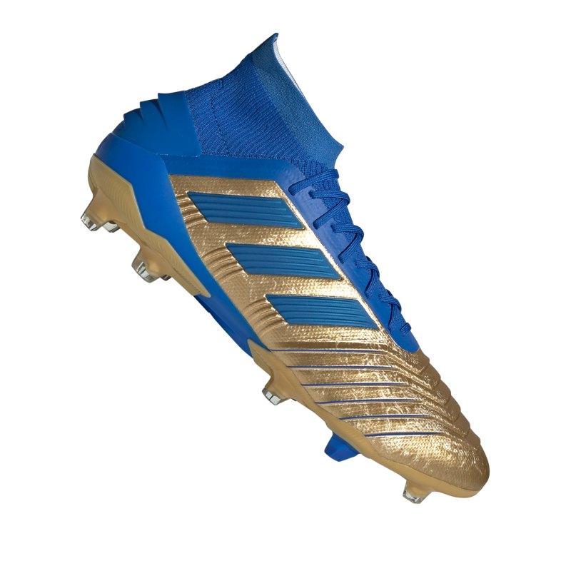 adidas Predator 19.1 FG Gold Blau - gold