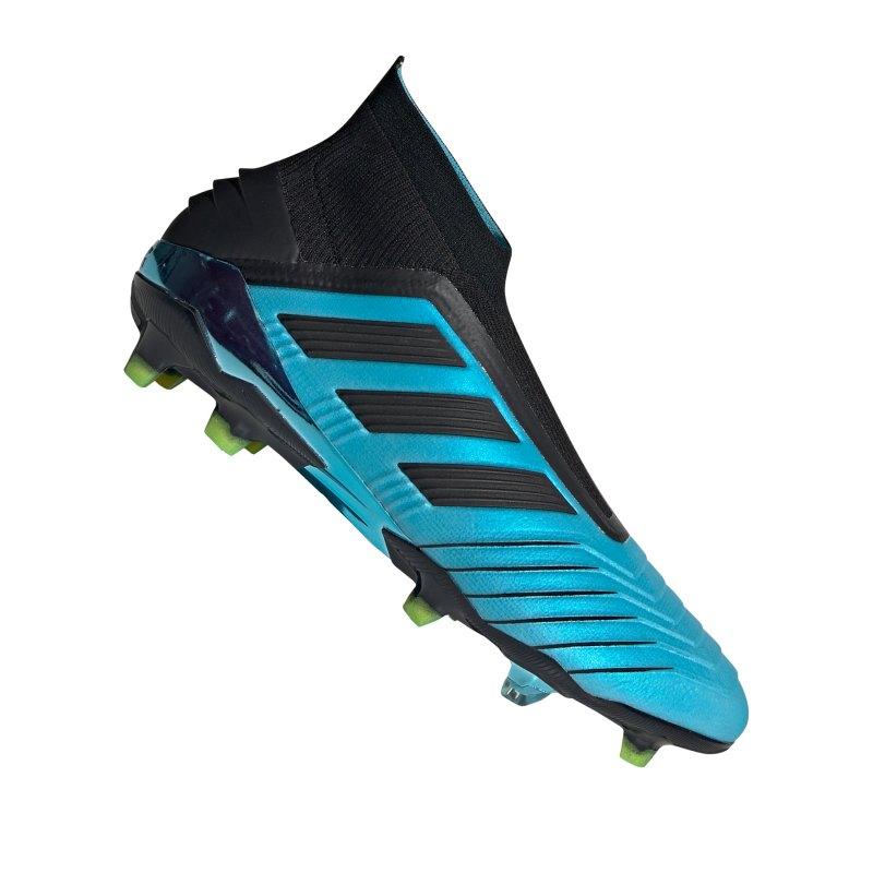 adidas Predator 19+ FG Blau Schwarz - blau