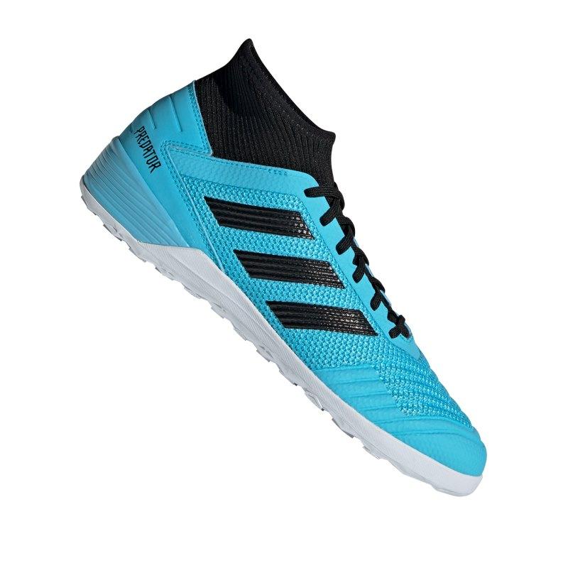 adidas Predator 19.3 IN Halle Blau Schwarz - blau