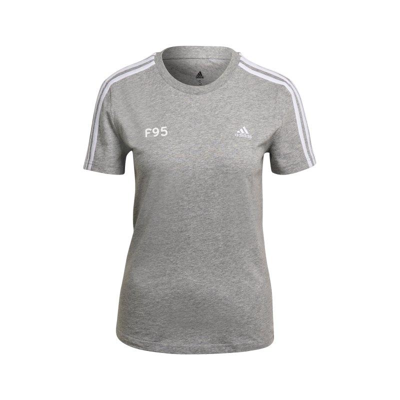 adidas Fortuna Düsseldorf Freizeit T-Shirt Damen Grau - grau