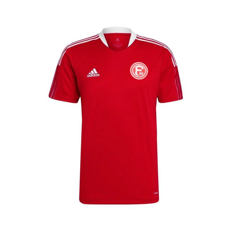 adidas Fortuna Düsseldorf Trainingsshirt Rot - rot