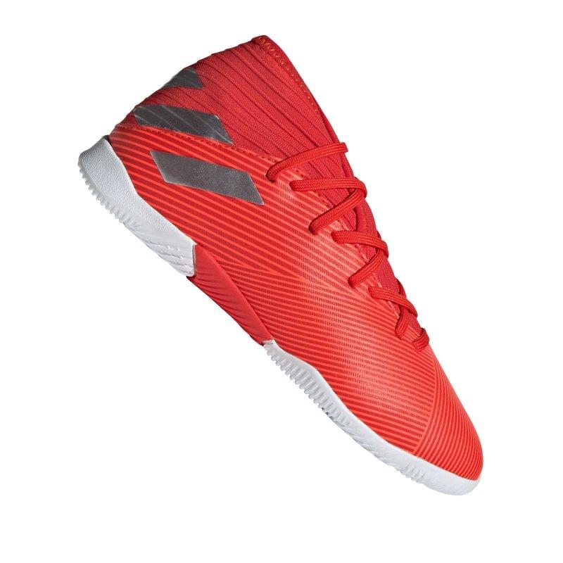 adidas NEMEZIZ 19.3 IN Halle J Kids Rot Silber - Rot