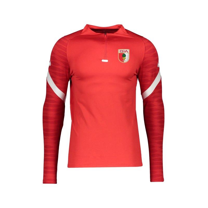 Nike FC Augsburg Drill Top Sweatshirt Rot F657 - rot