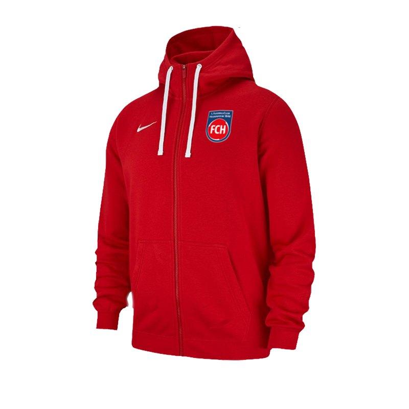 Nike 1. FC Heidenheim Kapuzenjacke Rot F657 - rot