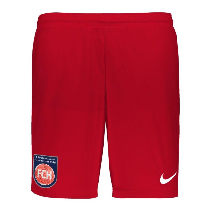 Nike 1. FC Heidenheim Short Home 2020/2021 Kids Rot F657 - rot
