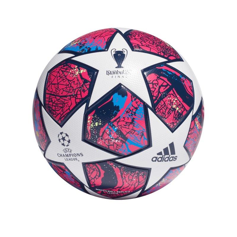 adidas FinaleIstanbulLGE Trainingsball Weiss - pink