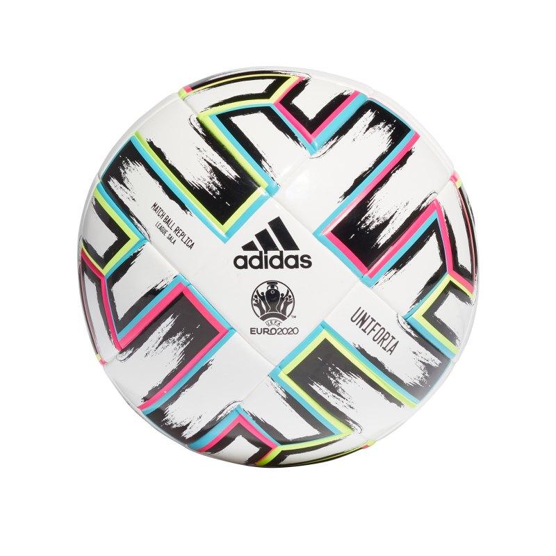 adidas LGE Uniforia Trainingsball Futsal Weiss - weiss