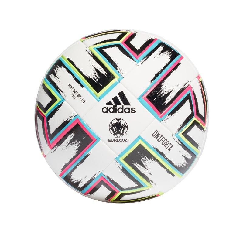 adidas EM 2020 Uniforia Trainingsball Replik Weiss - weiss