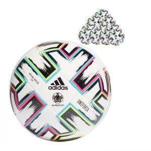 adidas Uniforia EM 2020 Trainingsball 10x Gr.5 Replik Weiss - weiss