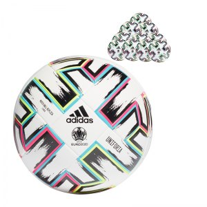 adidas Uniforia EM 2020 Trainingsball 50x Gr.5 Replik Weiss - weiss