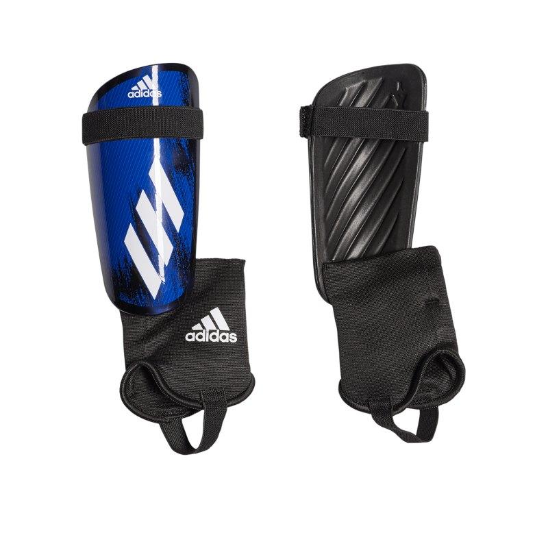 adidas X MTC Schienbeinschoner Schwarz Blau - schwarz