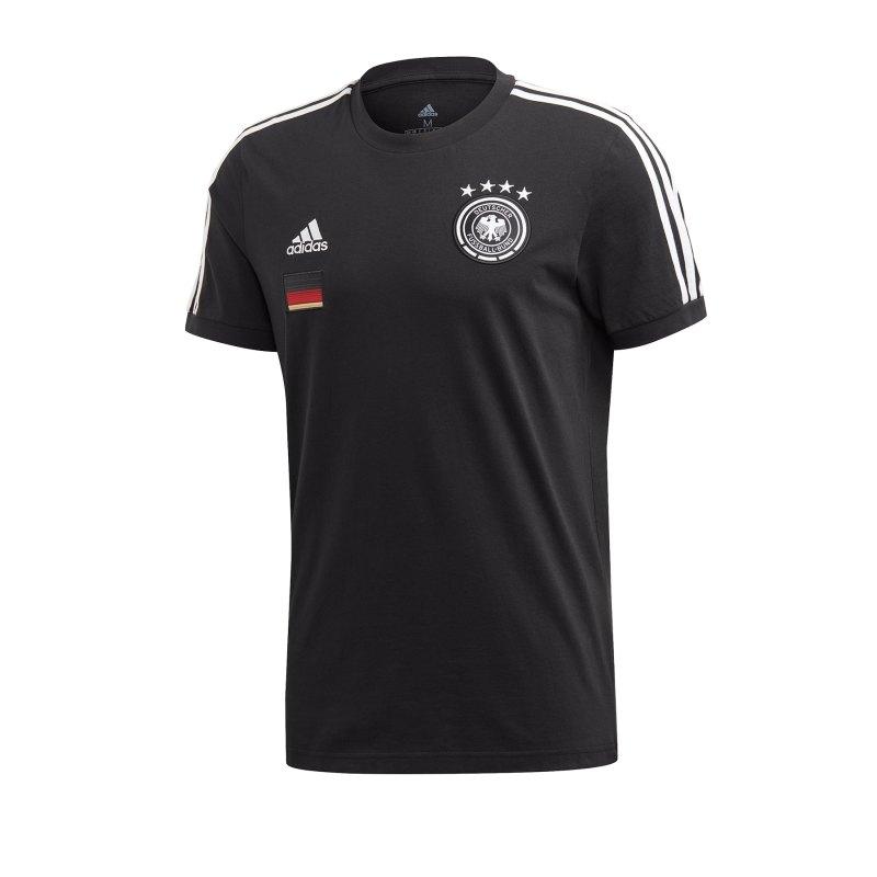 adidas DFB Deutschland 3S T-Shirt Schwarz - schwarz