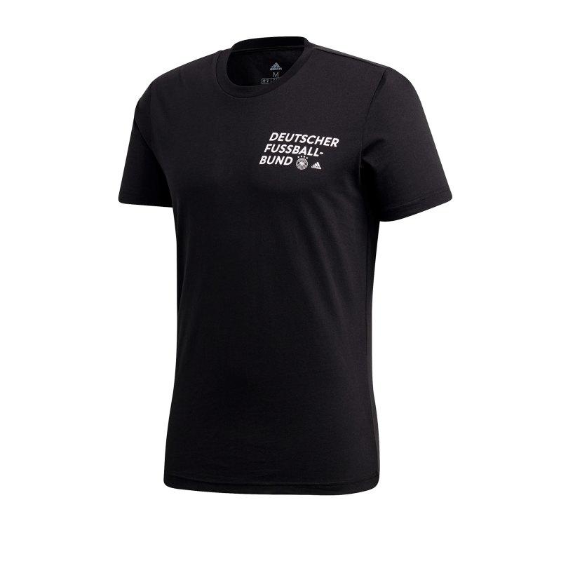 adidas DFB Deutschland DFB Tee T-Shirt Schwarz - schwarz