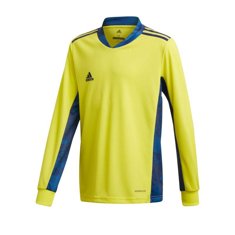 adidas AdiPro 20 TW-Trikot langarm Kids Gelb Blau - gelb
