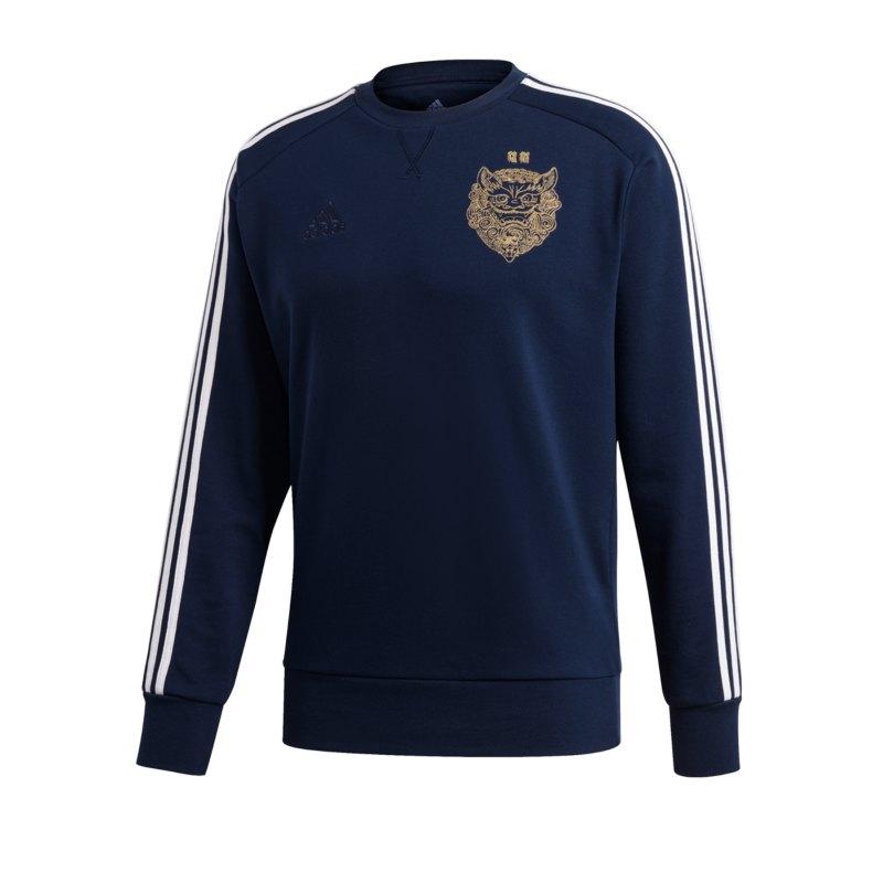 adidas Real Madrid CNY Sweater langarm Blau - blau