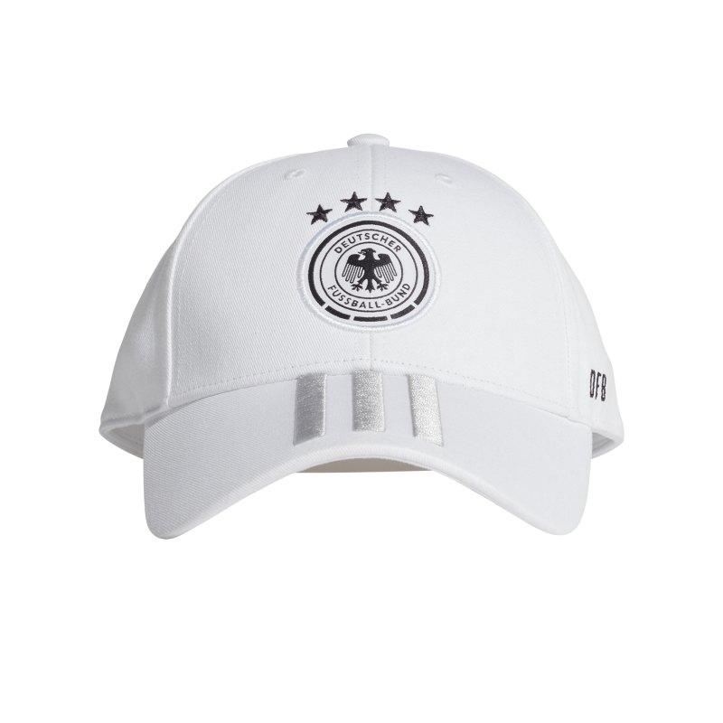 adidas DFB Deutschland H/A Cap Kappe Weiss Schwarz - weiss
