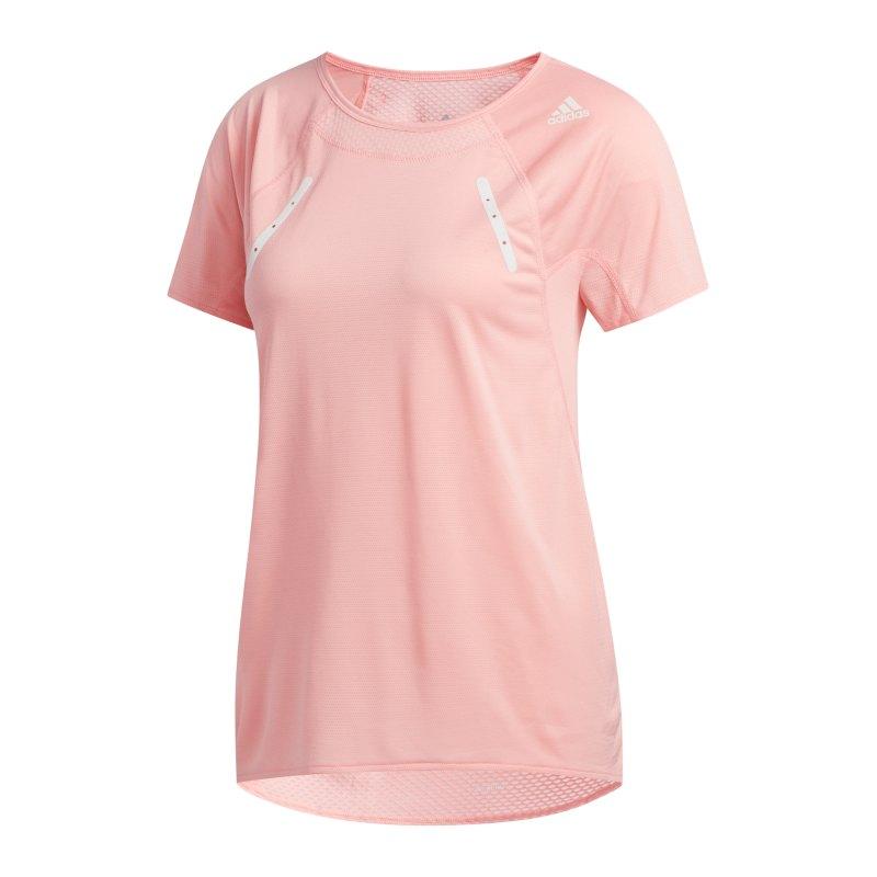adidas Heat Ready T-Shirt Running Damen Pink - pink