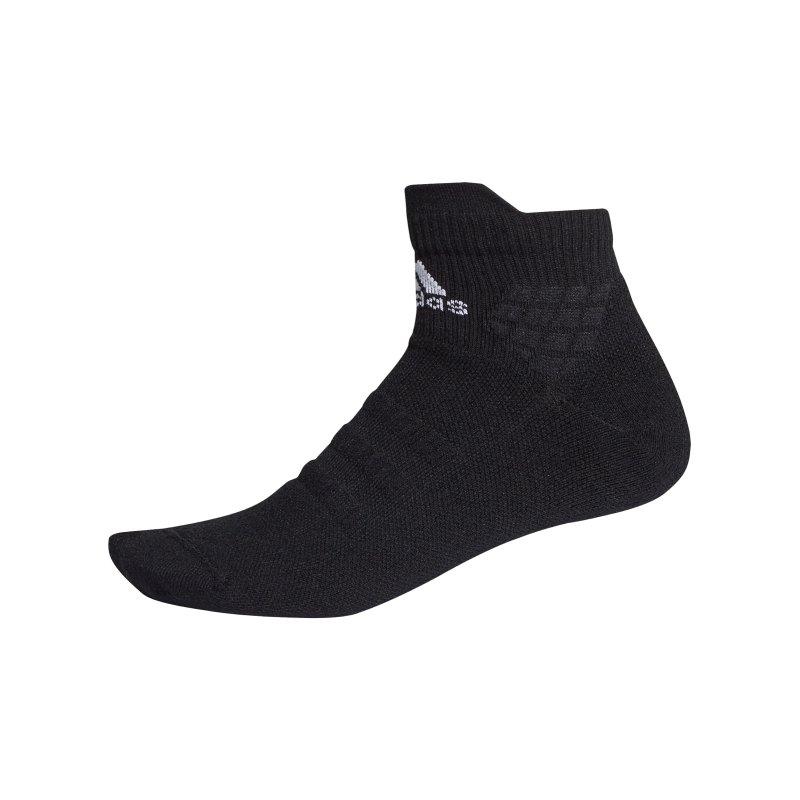 adidas Alphaskin Ankle MC Socken Schwarz - schwarz