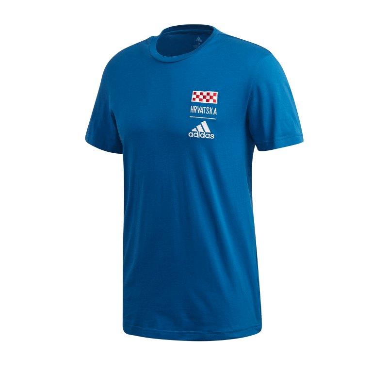 adidas Kroatien T-Shirt Blau - blau