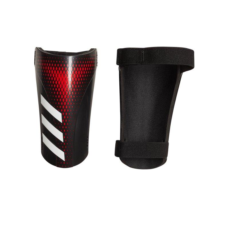 adidas Predator SG Schienbeinschoner Schwarz Rot - schwarz