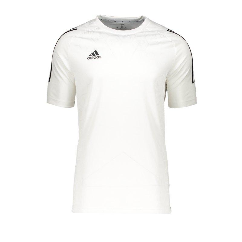 adidas Tango JQD Shirt kurzarm Weiss - weiss