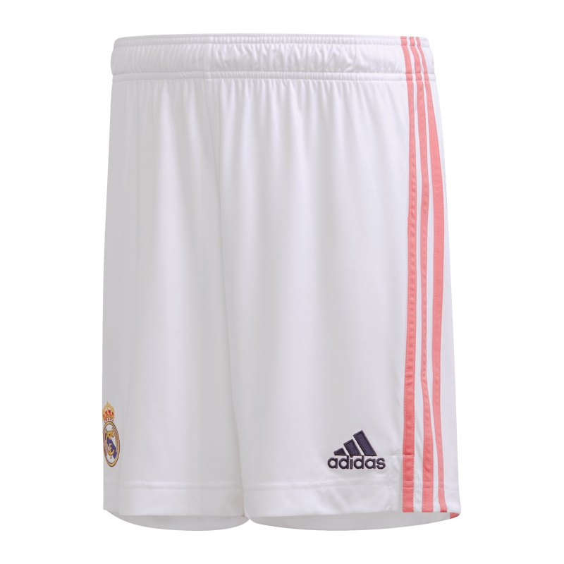 adidas Real Madrid Short Home 2020/2021 Weiss - weiss