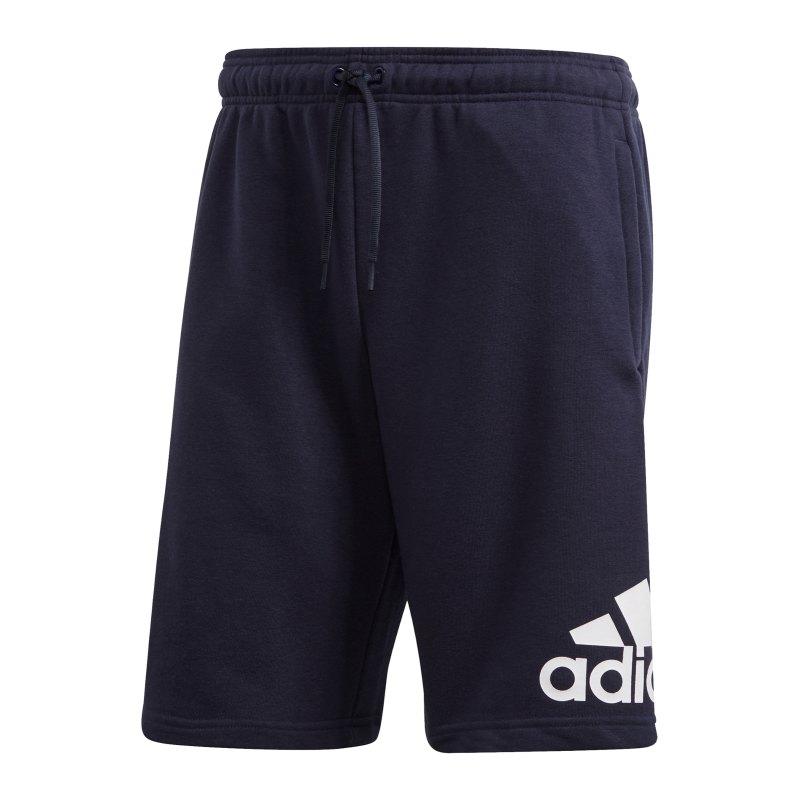adidas Must Haves BOS Short Blau Weiss - blau