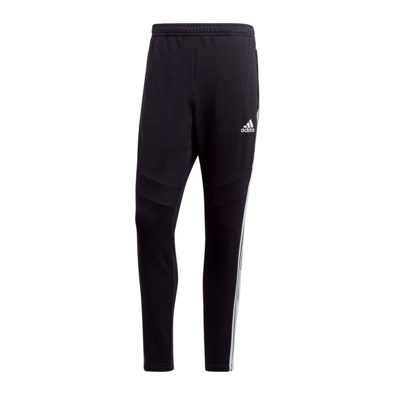 adidas Tiro 19 Jogginghose FT lang Schwarz Weiss - schwarz