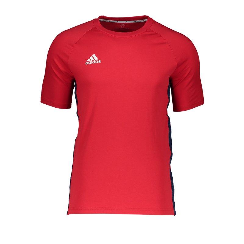 adidas Tan Tape T-Shirt Rot - rot