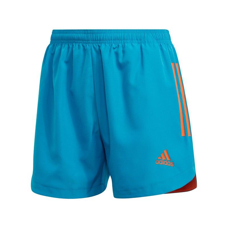 adidas Condivo 20 PB Short Damen Blau Orange - blau