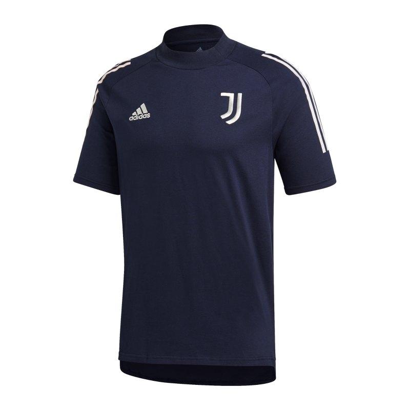 adidas Juventus Turin T-Shirt Blau Grau - blau