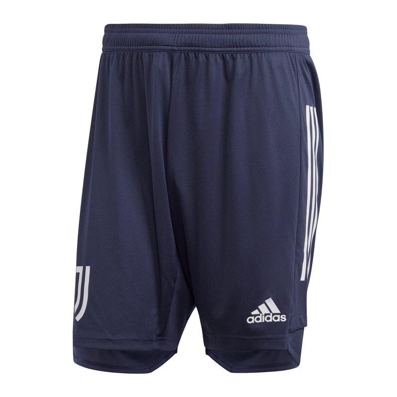 adidas Juventus Turin Trainingsshort Blau Grau - blau