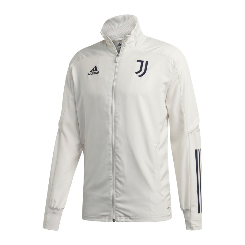 adidas Juventus Turin Präsentationsjacke Grau Blau - grau