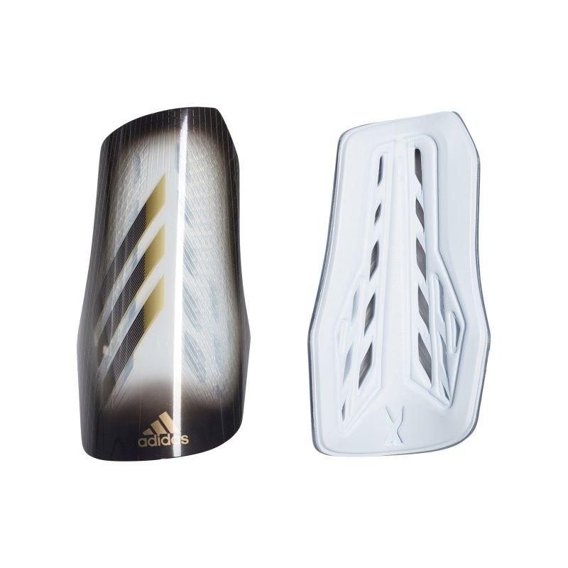 adidas X LGE Schienbeinschoner Grau Schwarz Gold - grau