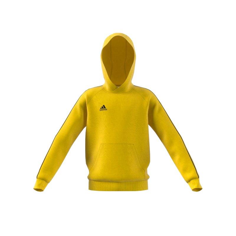 adidas Core 18 Hoody Kapuzenswearshirt Kids Gelb - gelb