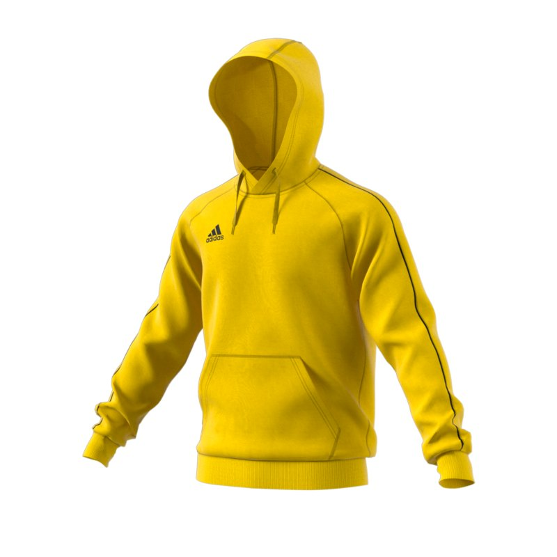 adidas Core 18 Kapuzensweatshirt Gelb - gelb