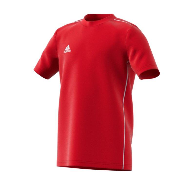 adidas Core 18 Tee T-Shirt Kids Rot Weiss - rot