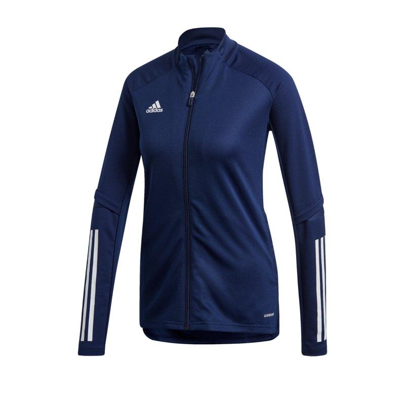 adidas Condivo 20 Trainingsjacke Damen Blau Weiss - blau